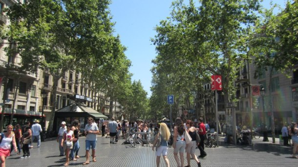 It was even possible to walk down La Rambla without bumping into people every 5 seconds